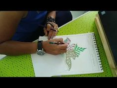 Pattern colouring with oil pastels and colour pencils - YouTube