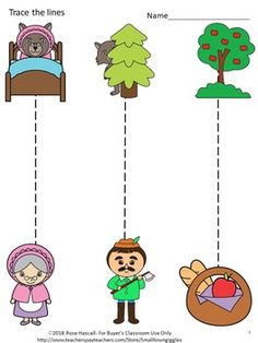 Fairy Tale Math and Literacy Bundle P-K, K,. Kindergarten Freebies, Preschool Kindergarten, Tracing Worksheets, Free Worksheets, Teacher Problems, Traditional Tales, Preschool Special Education, Math Literacy, Classroom Language