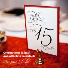 Gorgeous Wedding Table Numbers