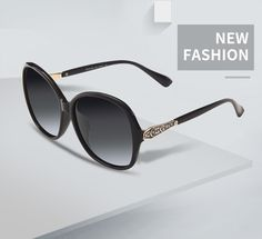 04fc9099e1 AOFLY BRAND DESIGN Classic Polarized Sunglasses Women Oversized Frame  Gradient Lens Rhinestone Sunglasses A102