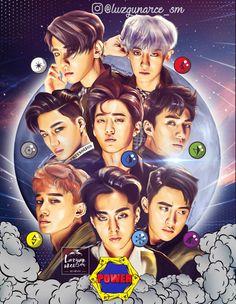 Would look better with lay tho :'') exo bbs фан арт, му Kpop Exo, Exo Kokobop, Chanyeol Baekhyun, Exo Kai, K Pop, Exo Cartoon, Chibi, Exo Anime, Exo Group