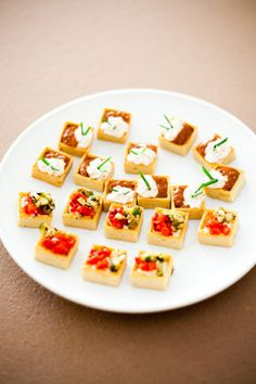 Mouth-Watering Wednesday: Check out these cute little canapes! #yummy #food #cocktailhour