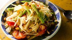 Tom Mak Hoong (Tom Sam, Bok L'Hong): Laos, Thailand & Cambodia green papaya salad.