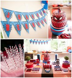 Spiderman Party {Kara's Party Ideas}   Visit www.fireblossomcandle.com for more party ideas!