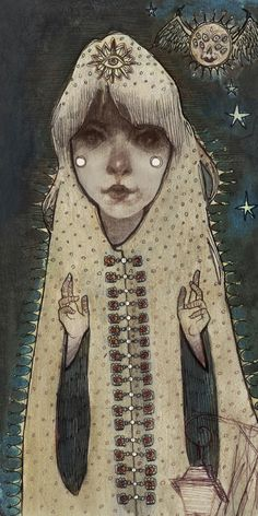 Many blessings from the little Moon Girl on this fine Friday evening.  Audrey Benjaminsen 2013