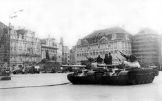 Warsaw Pact invasion of Czechoslovakia in Marie Curie, Warsaw Pact, Visit Prague, Cold War, Capital City, Old Photos, Louvre, History, Building