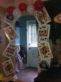 Vegas or card party themed entry way