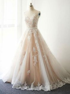 477ac0bc59 Beautiful Wedding Dresses with Sash A-line Appliques Sweep Train Romantic  Bridal Gown JKW296 Wedding
