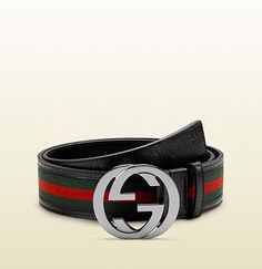 belt with interlocking G buckle Cinturon Gucci Hombre 965216cd8f9d