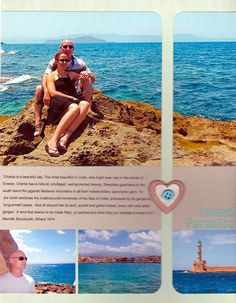 Island Paradise - Scrapbook.com - Clean and simple design keeps focus on the gorgeous vacation photos.