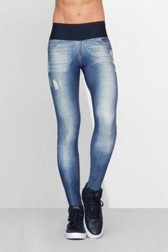 Calça Legging Jeans Kind • LIVE! • #shoponline #fitness #active #legging #jeans