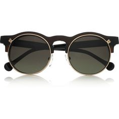 Carven Anastasie flip-up round-frame acetate sunglasses ($360) ❤ liked on Polyvore