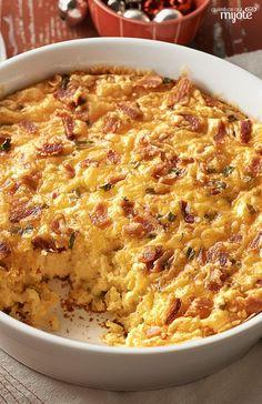 Pouding de maïs au bacon et au cheddar - Un plat original à servir au brunch ! #recette