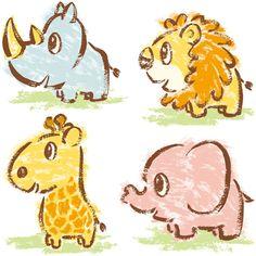 Hand-drawn Animals-in Africa on Behance