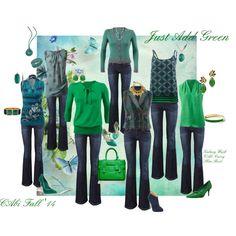 """Just Add Green"" by leanne-m-zellmer on Polyvore http://www.nickidavis.cabionline.com/"