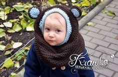 Ravelry: Little Bear Hooded Cowl pattern by Kamila Krawka Krawczyk