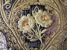 Antique Metallic Embroidery Spanish Silk Sequins by RuinsCa
