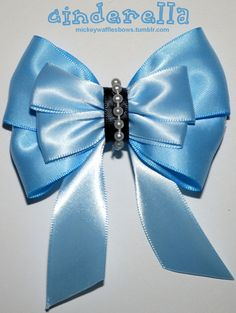 Cinderella Hair Bow by MickeyWaffles on Etsy
