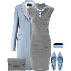 One of my favorite outfits! The light blue and soft gray is a beautiful combination.