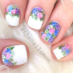 Gold leafed roses! Wanted to do some spring nail art - thenailomon @ Instagram Web Interface - 5th village