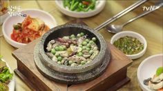Oyster Rice (굴밥) in hot stone bowl
