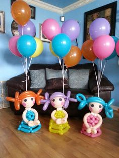 Lalaloopsy Balloon Centerpieces, by Just Dainty!