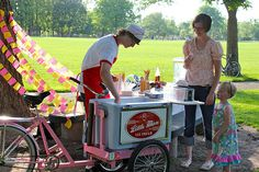 First Week of Summer Party – complete with an ice cream bike and a teenage server wearing a paper hat