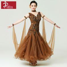 Nova! Padrão moderno Ballroom competição vestido de desempenho trajes de dança Flamenco Tango Salsa dança vestidos para mulheres meninas