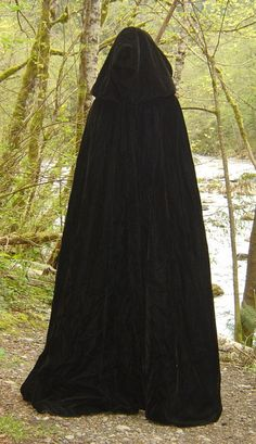 MOON WITCH'S CLOAK  Designer Black Velvet Cape by TheCloakary, $195.00