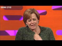 Sandi Toksvig re-enacts a scene from 'Alien' - The Graham Norton Show - ...