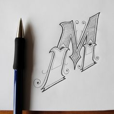 Sketching letters.
