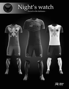 Concept - Game of Thrones football kits on Behance Team Uniforms 823deea10d1d3