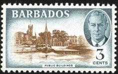 Barbados 1950 May). King James I, Stamp World, Windward Islands, Caribbean Sea, King George, Elizabeth Ii, Barbados, Postage Stamps, Empire