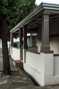 Stoep in Graaff Reinet Gazebo, Pergola, Water House, Listed Building, White Walls, South Africa, Train Stations, Outdoor Structures, London