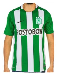 Camiseta Nike M/C Oficial Atlético Nacional 2016 Mens Tops, How To Make, Rey, Club, Nike T Shirts, Athletic Wear, Sports, Originals, Products