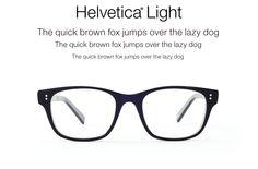 """L'occhiale che ha """"#carattere"""". Sei più da #Helvetica o da #Garamond?"""