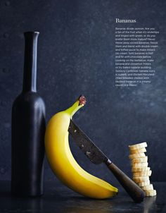 Lara Holmes specialises in food photography for restaurants, books and magazines. For FOOD's September Eat pages she decided to focus on the ingredients and went back to basics with her styling of them. Pick up a hand of bananas from Spinneys and try one of these delicious ideas on them...