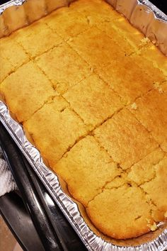 Golden Sweet Cornbread Recipe - - If you like sweet cornbread, this is the recipe for you! My mom made this for me as a child, and now it's my family's favorite. Golden Sweet Cornbread Recipe, Buttery Cornbread Recipe, Southern Cornbread Recipe, Honey Cornbread, Homemade Cornbread, Grilled Cornbread Recipe, Sweet Cornbread Muffins, Cornbread Recipes, Jiffy Cornbread