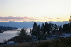 town of sooke in the early evening