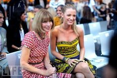 Anna Wintour and Blake Lively