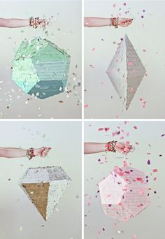 Too. Much. Head exploding. Piñata s? Geometric shapes? Shiny sparkles? Confetti?  I just can't...