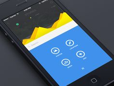 App Menu Exploration | Flat UI Design with great icon and data visualization execution