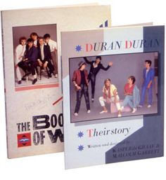 Duran Duran Their Story and The Book of Words - a brace of books about 80s popsters Duran Duran by Kasper de Graaf and Malcolm Garrett.