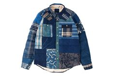 The latest from visvim's F.I.L. Indigo Camping Trailer is the KERCHIEF DOWN JKT KOFU, continuing wit...