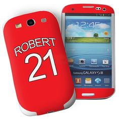 Personalised Manchester United Samsung Galaxy S3 Phone Skin  from Personalised Gifts Shop - ONLY £7.95