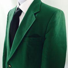 John Weitz American Designer Men's Suit Jacket Blazer Sport Coat Kelly Green #JohnWeitzTheAmericanDesigner #TwoButton