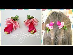 Казкова квітка канзаши. Сказочный цветок своими руками. Fabulous flower kanzashi - YouTube