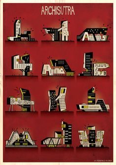 buildings get busy in federico babina's 'archisutra' series