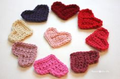 Easy Crochet Heart Pattern - Repeat Crafter Me