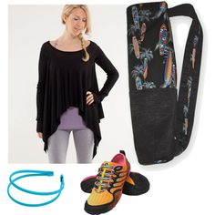 """""""Black Surf"""" by sassysaks @Polyvore http://www.sassysaks.com/products/yoga/black-surf.php"""